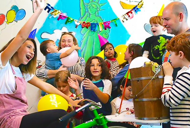 Hop On The Ice Cream Churning Bicycle At A Birthday Party Ample Hills Photo Courtesy Of