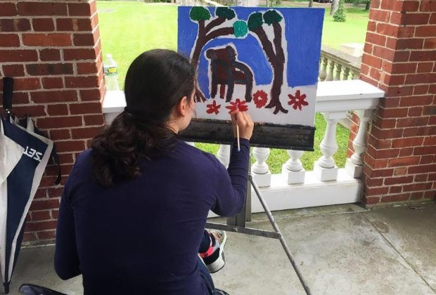 Your child can tap into his or her inner artist at Creative Expeditions. Photo courtesy of the Nassau County Museum of Art