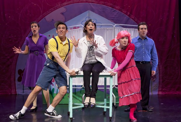 Pinkalicious takes the the stage at the Landmark on Main Street in Port Washington. Photo courtesy of Pinkalicious the Musical