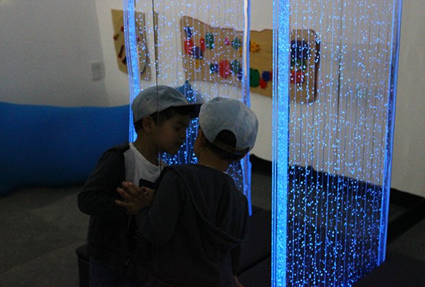 The bubble wall is a soothing visual. Photo by the author