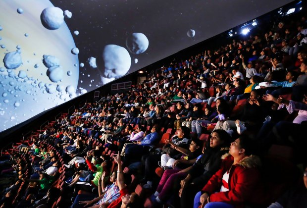 The Jennifer Chalsty Planetarium at The Liberty Science Center is the biggest in the Western Hemisphere.