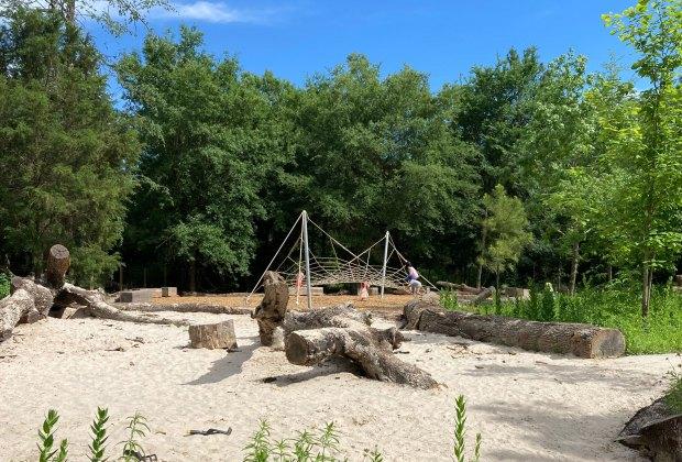 Houston Arboretum Playscape Lumber Yard Sand Play Area