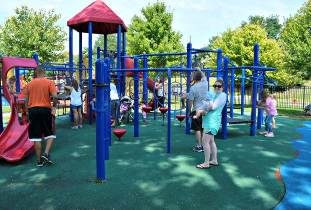 The playground at Lyndurst Municipal Park