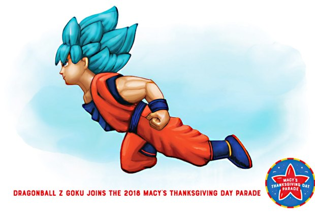 The giant Goku balloon will take flight over NYC on Thanksgiving Day.