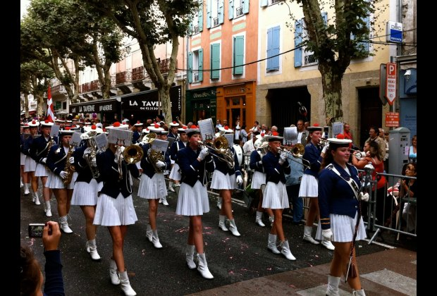Lots of marching bands from all over Europe performed