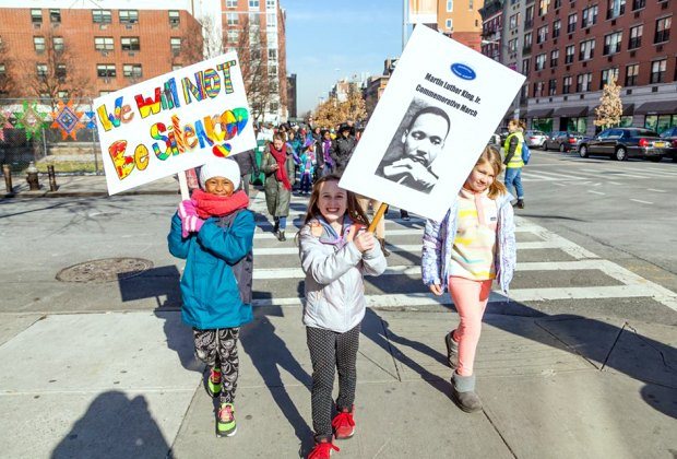 Join the Manhattan Country School for its Martin Luther King Jr. commemorative March. Photo courtesy of the school