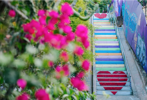 20 Things To Do in Echo Park with Kids: The Micheltorena Painted Stairs.