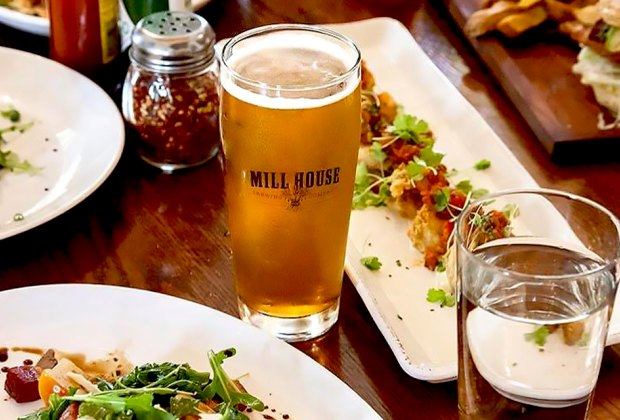 Mill House Brewing Company offers a warm, historic and visually appealing setting, casual, yet professional service, food cooked from as close to the source as possible