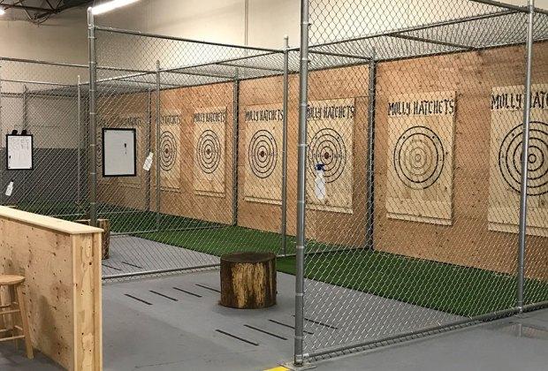 axe throwing range