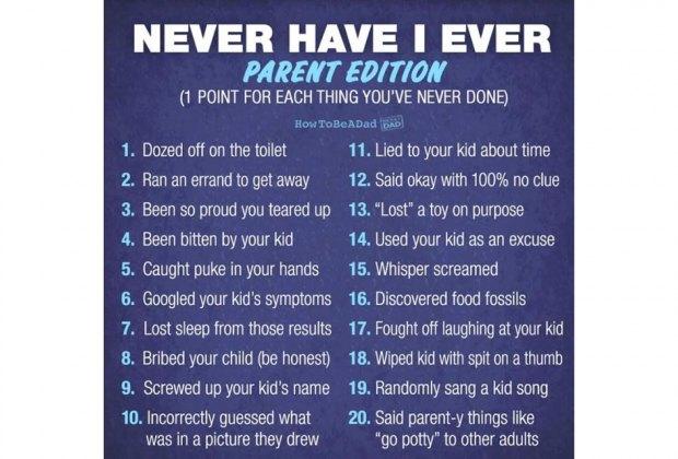 parenting never have I ever meme