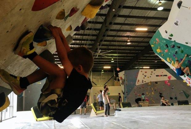 Kids can climb at Momentum Indoor Climbing