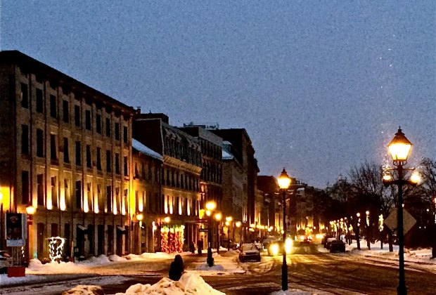 Visit Montreal in the winter and you'll be treated to Christmas lights.