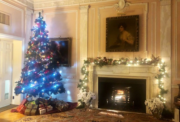 Morristown's Morris Museum is decorated for the Christmas season