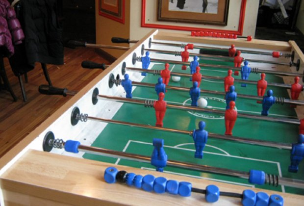 Foosball table at The Moxie Spot