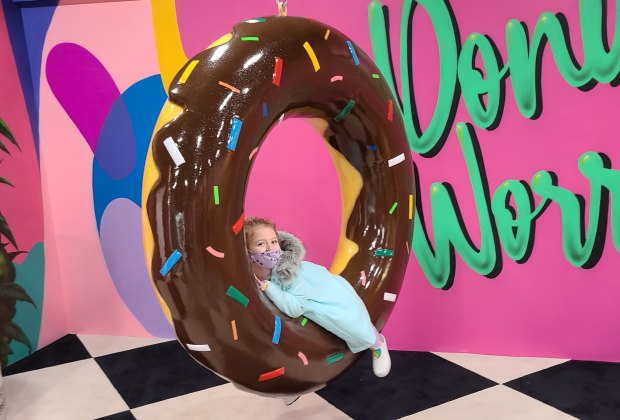 Hollywood's Museum of Illusions: Where kids can swing on a giant donut
