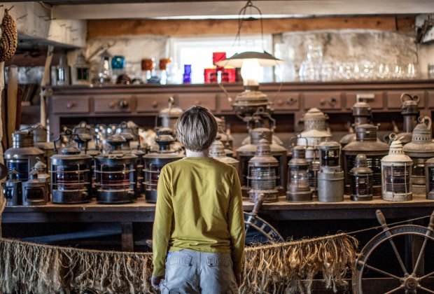 Kids can immerse themselves in another time at Mystic Seaport.