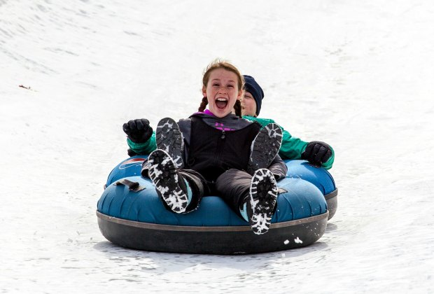 New England's largest tubing park is less than an hour from Boston. Photo courtesy of Nashoba Valley Ski Area