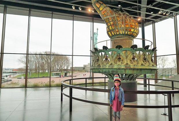 Girl at the Statue of Liberty Museum