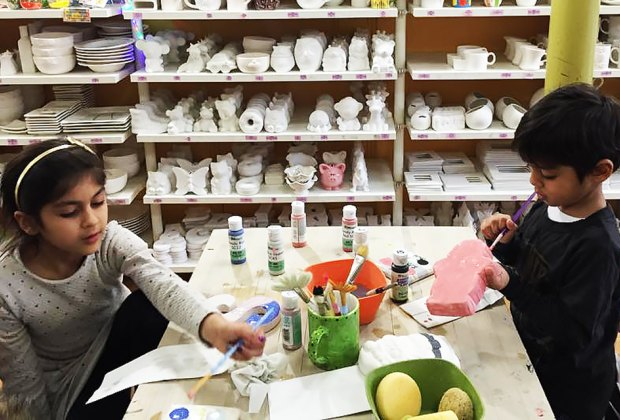 Making masterworks at The Painted Pot. Photo by Purnima Chopra