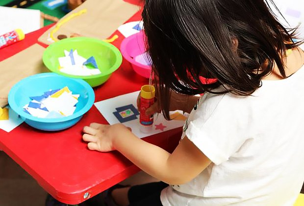 Create a masterpiece during Creative Play at the Newark Museum. Photo courtesy of the museum
