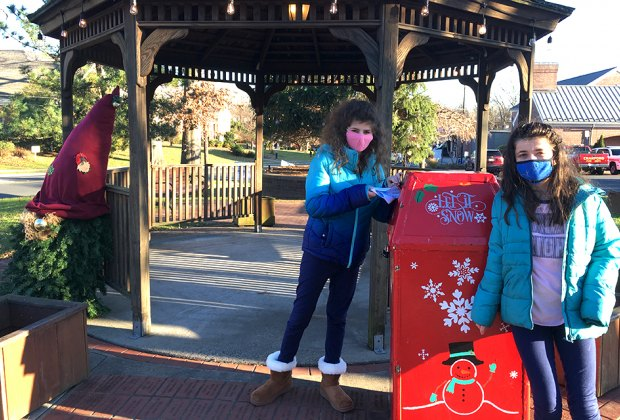 Drop your letters in Santa's mailbox in Christmas town Cranford
