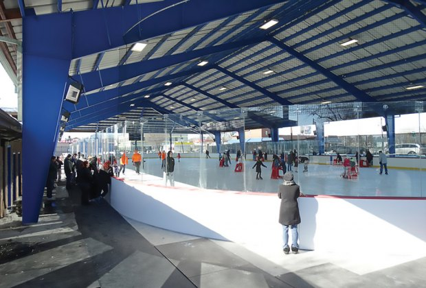 Secaucus Ice Skating Rink is open air