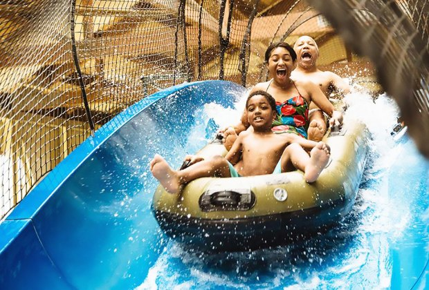 Take a ride with the whole family at Great Wolf Lodge.