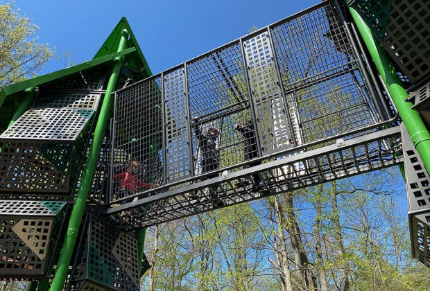 Playground structure at Nomahegan Park