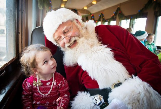 Visit Santa on the North Pole Express. Photo courtesy of Black River & Western Railroad.
