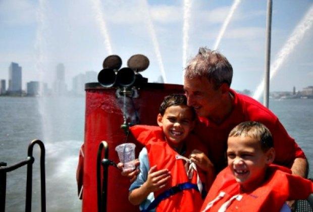 Get wet during the Fireboat John. J. Harvey's big finale; photo: Ann Rossetti
