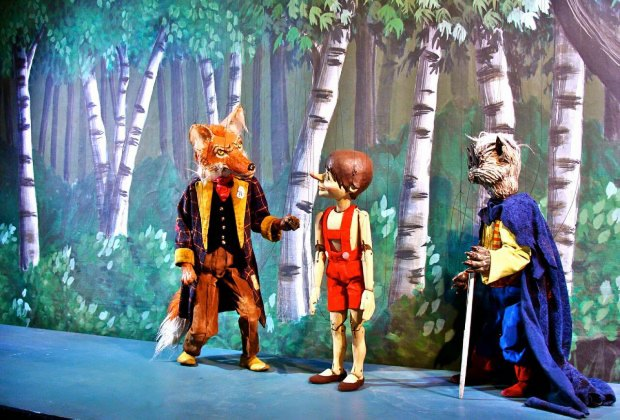 Catch this Pinocchio puppet show at Symphony Space. Photo courtesy the production