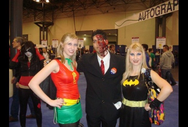Some getups, like Two Face, can be scary for kids.