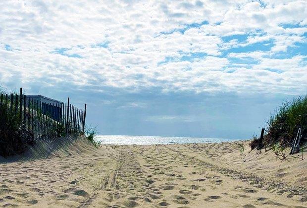 a path leads to beach at Ocean Grove NJ