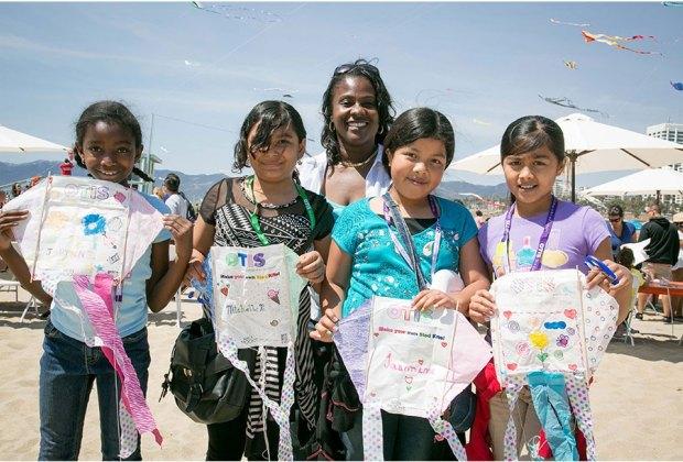 Make your own kite at the free Otis Kite Festival. Photo courtesy of Otis College of Art & Design