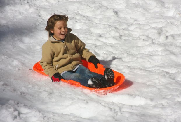 Sledding at the Palm Springs Aerial Tramway. Photo by Jeremy Miles/Flickr
