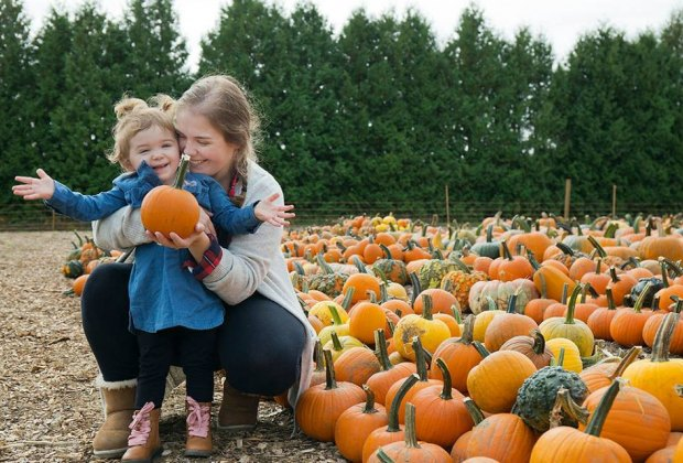 Pick apples and pumpkins this fall at farms like Parlee, here. Photo courtesy of Parlee Farms