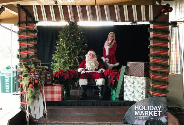 Santa visits the bethel woods holiday market