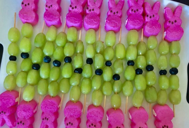 Easter Desserts, Easter Recipes, and Easter Brunch Ideas: Easter Peep Fruit Wands