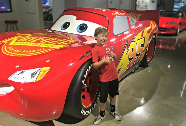 Take a photo with Lightning McQueen