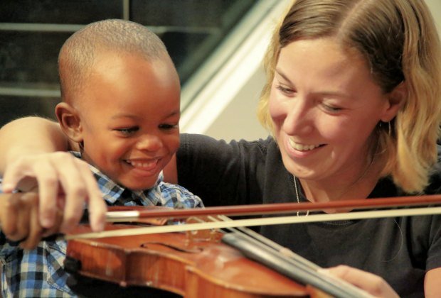 Get acquainted with the instruments at the Atlas Performing Arts Center. Photo courtesy of Capital City Symphony