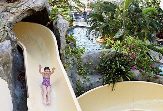 Biosphere Pool Complex at Crystal Springs Resort Indoor Water Park