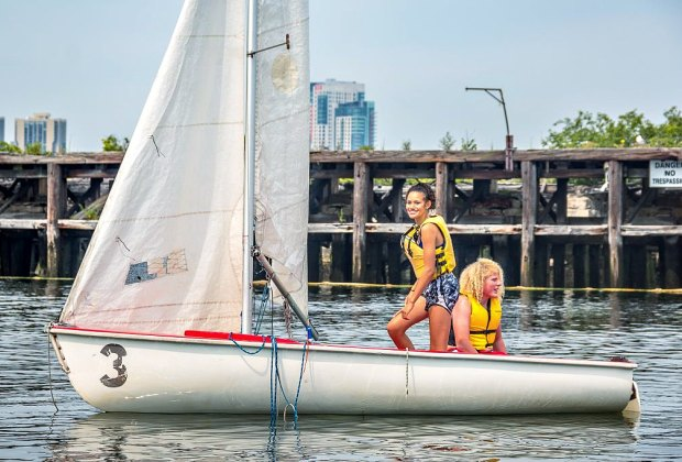 Older kids learn the Science of Sailing. Photo courtesy of Piers Park Sailing Center