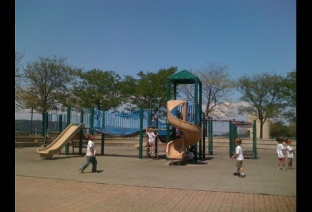 One of two playgrounds, this one is practically on the waterfront