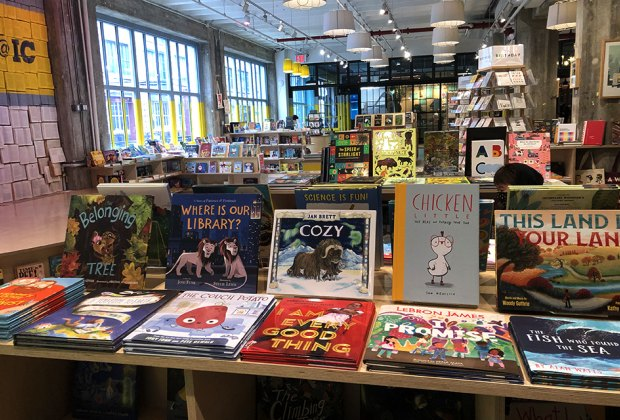 Powerhouse bookstore Tables of books Things to Do With Kids in Industry City, Brooklyn