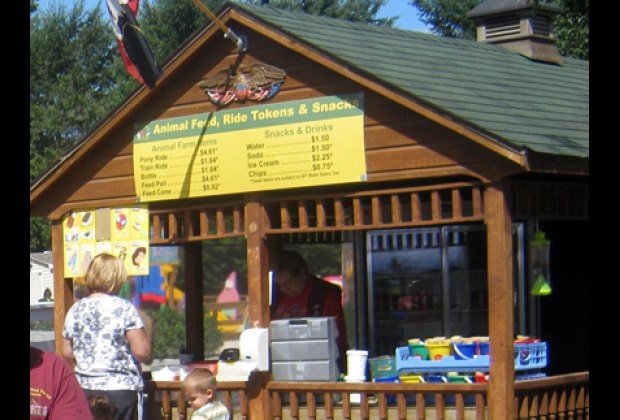 You can buy extra ride tokens and animal feed at the shack