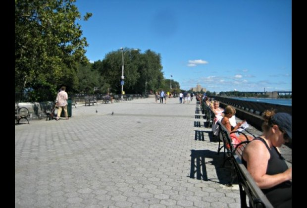 Carl Schurz Park's East River promenade, also known as John Finley Walk