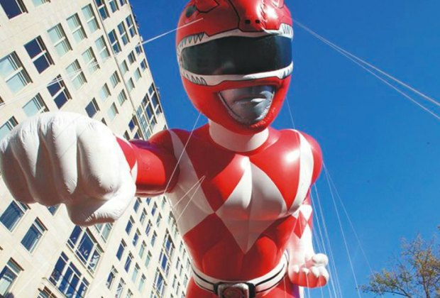 The Red Mighty Morphin Power Ranger courtesy of Macy's.