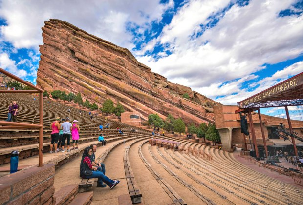Hike around Red Rocks outdoor theater in Denver or catch a show! Photo by J Dimas/CC BY 2.0