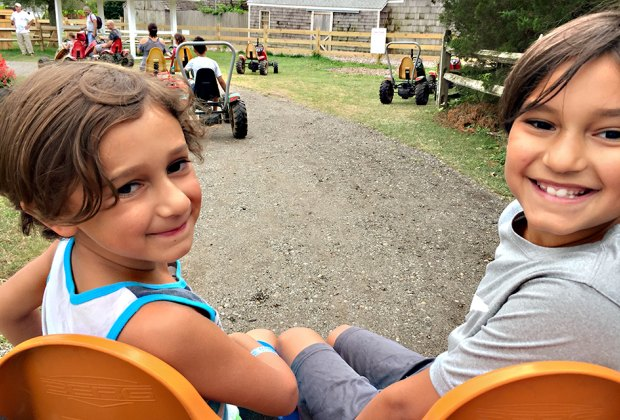 Ride the pedal karts at Harbes Family Farm.