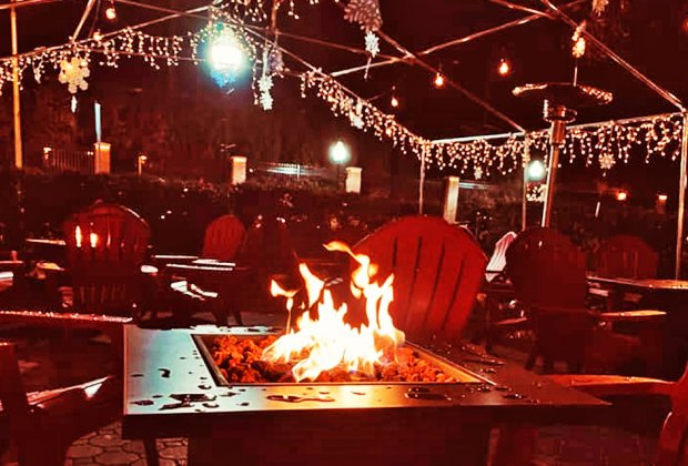 River and Rail Cantina offers outdoor dining fireside in Cranford, New Jersey